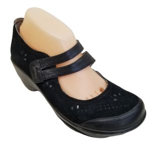 Jambu SCARLET 10M Clogs Mary Jane Black Leather